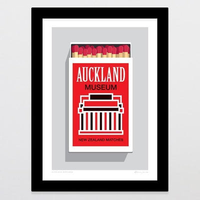 Auckland Matchbox Art Print-Glenn Jones Art