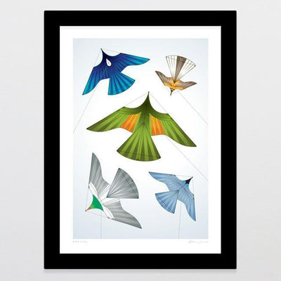 Bird Kites Art Print-Glenn Jones Art