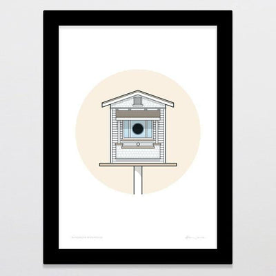 Birdhouse Bungalow Art Print-Glenn Jones Art