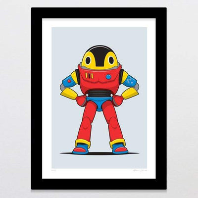 Glenn Jones Art Buzz Art Print A4 Print / Black Frame
