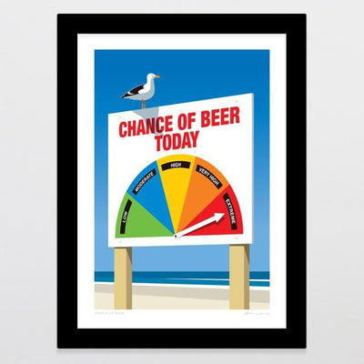 Chance Of Beer Art Print-Glenn Jones Art
