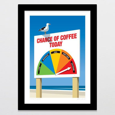 Glenn Jones Art Chance Of Coffee Art Print Art Print A4 Print / Black Frame