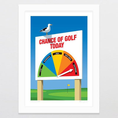 Glenn Jones Art Chance Of Golf Art Print Art Print A4 Print / Black Frame