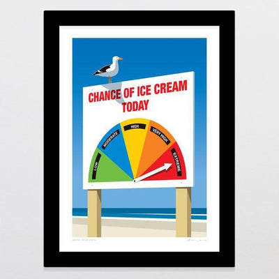 Chance Of Ice Cream Art Print-Glenn Jones Art