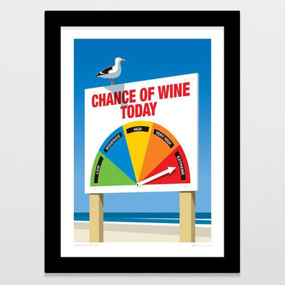 Chance Of Wine Art Print-Glenn Jones Art