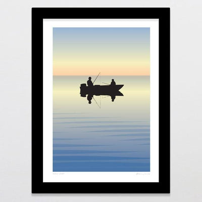 Glenn Jones Art Early Start Art Print Art Print A4 Print / Black Frame