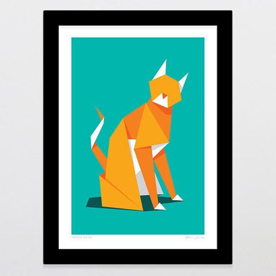 Folded Feline Art Print-Glenn Jones Art