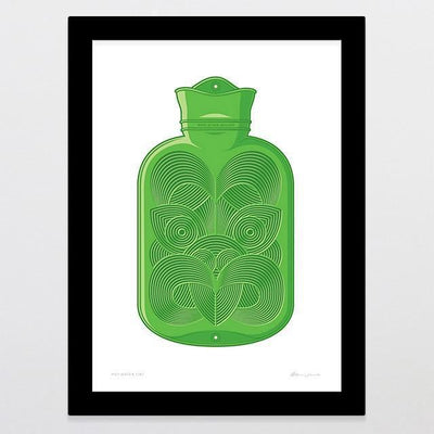 Hot Water Tiki Art Print-Glenn Jones Art