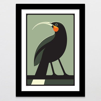 Huia Art Print-Glenn Jones Art