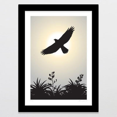 Kahu Art Print-Glenn Jones Art