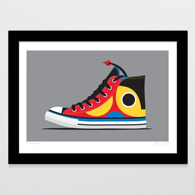 Kiwiana Kicks Art Print-Glenn Jones Art