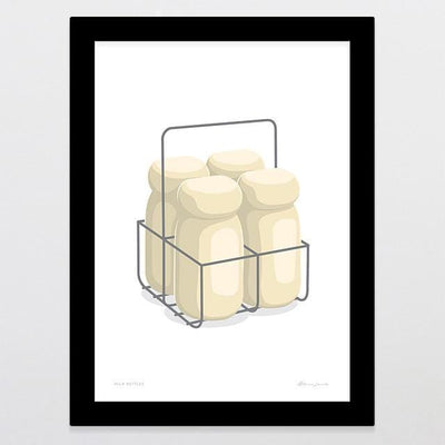 Milk Bottles Art Print-Glenn Jones Art