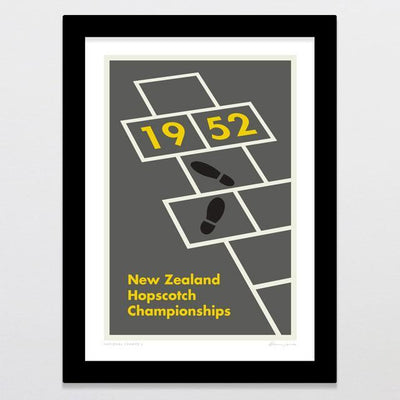 National Champs 3 - Hopscotch Art Print-Glenn Jones Art