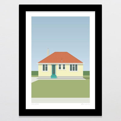 State House - Yellow Art Print-Glenn Jones Art