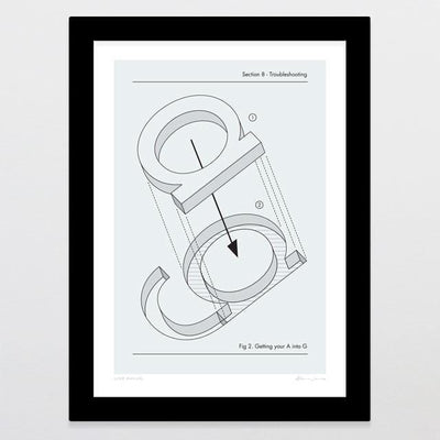 User Manual Art Print-Glenn Jones Art