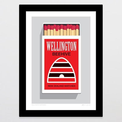 Wellington Matchbox Art Print-Glenn Jones Art