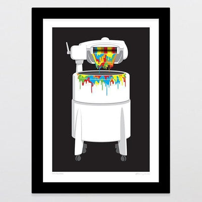 Whiteware Art Print-Glenn Jones Art