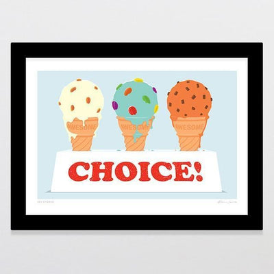 You Choose Art Print-Glenn Jones Art