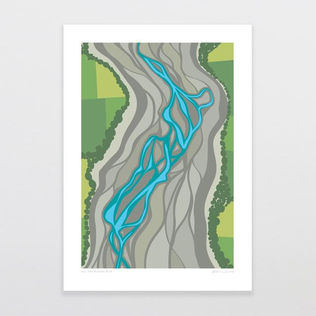 Glenn Jones Art All The Rivers Run Art Print Art Print A4 Print / Unframed