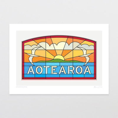 Aotearoa Window Art Print-Glenn Jones Art