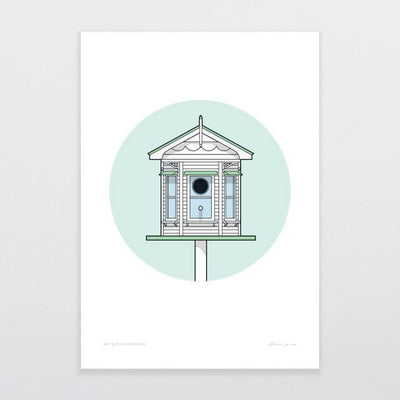 Birdhouse Villa Art Print-Glenn Jones Art