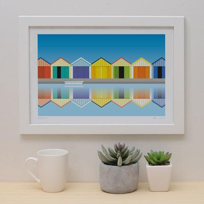 Boatsheds Art Print-Glenn Jones Art