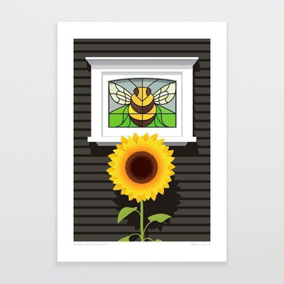 Bumble Bee Bungalow Art Print-Glenn Jones Art