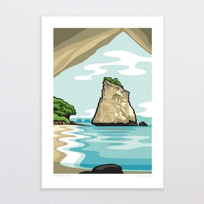 Glenn Jones Art Cathedral Cove Art Print Art Print A4 Print / Unframed