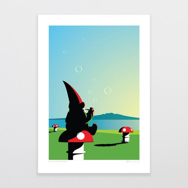 Devonport Gnome Art Print-Glenn Jones Art