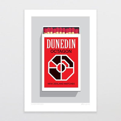 Dunedin Matchbox Art Print-Glenn Jones Art