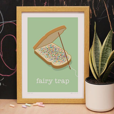 Fairy Trap Art Print-Glenn Jones Art