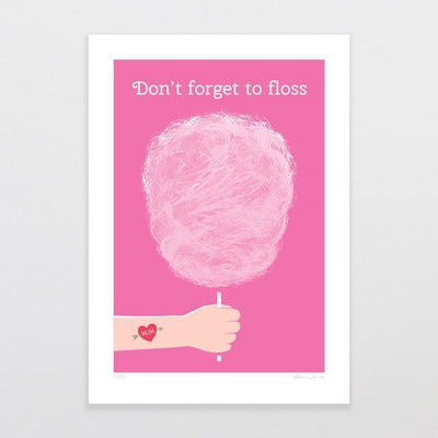 Floss Art Print-Glenn Jones Art