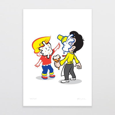 Food Fight Art Print-Glenn Jones Art