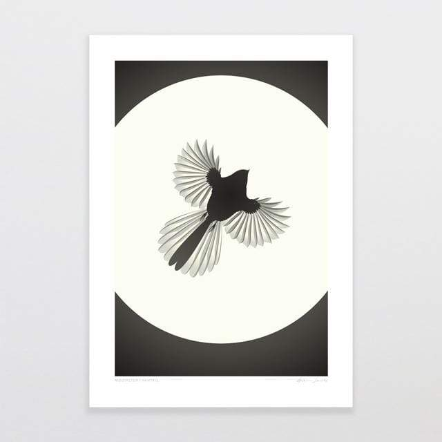 Glenn Jones Art Full Moon Fantail Art Print Art Print A4 Print / Unframed