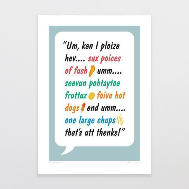 Fush & Chups Art Print-Glenn Jones Art