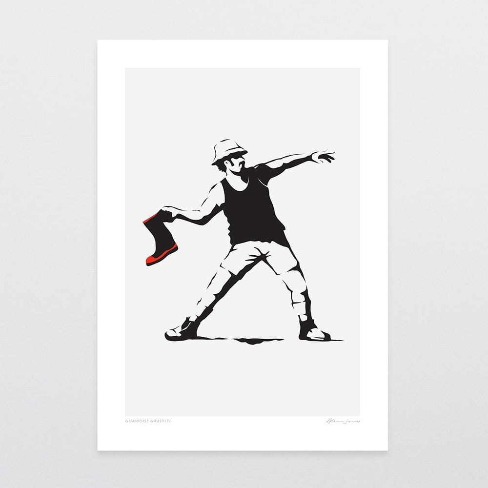 Gumboot Graffiti Art Print-Glenn Jones Art