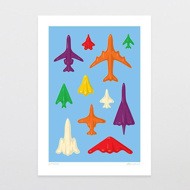 Jet Planes Art Print-Glenn Jones Art