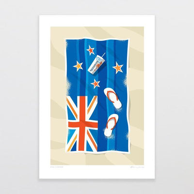 Kiwi Summer Art Print-Glenn Jones Art