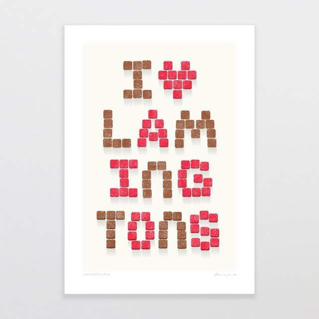 Glenn Jones Art Lamington Love Art Print Art Print A4 Print / Unframed