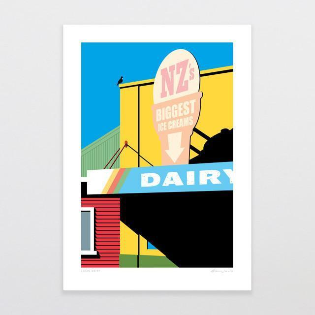 Local Dairy Art Print-Glenn Jones Art