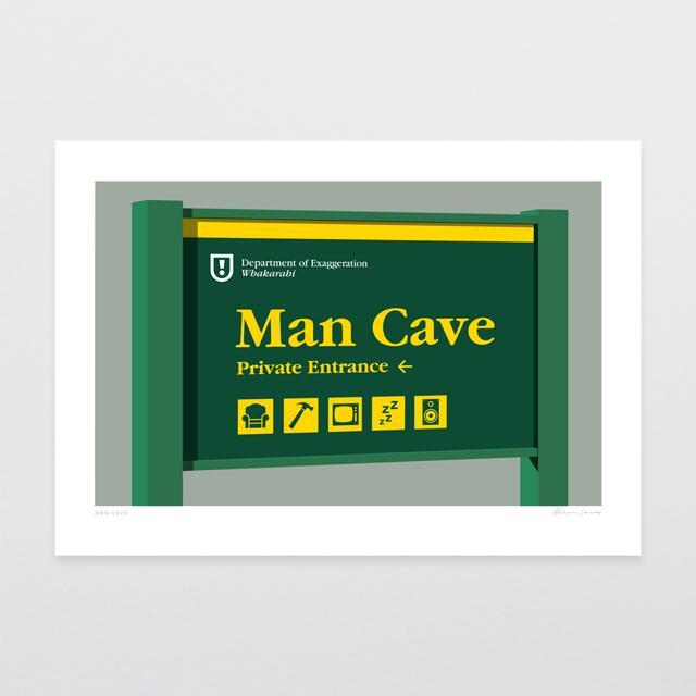 Man Cave Art Print-Glenn Jones Art