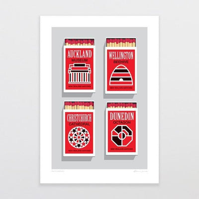 Matchboxes Art Print-Glenn Jones Art