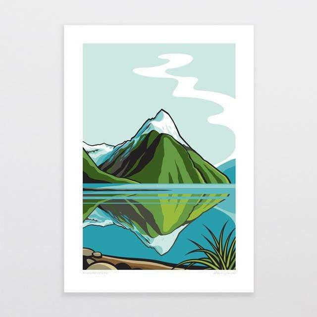 Glenn Jones Art Milford Sound Art Print Art Print A4 Print / Unframed