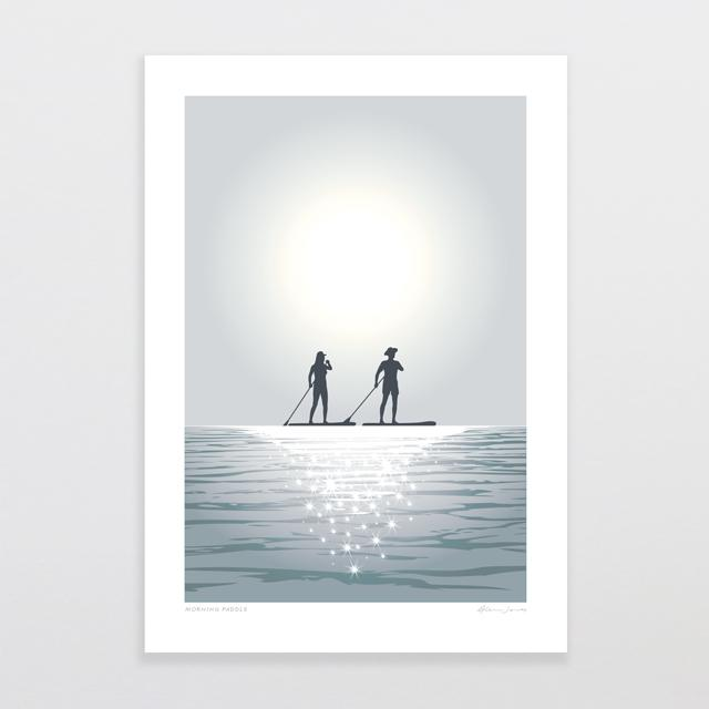Glenn Jones Art Morning Paddle Art Print Art Print A4 Print / Unframed