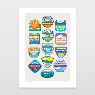 National Parks Art Print-Glenn Jones Art