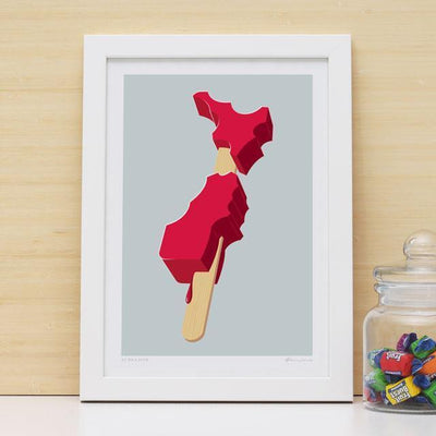 NZ On A Stick Art Print-Glenn Jones Art