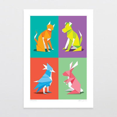 Paper Pets Art Print-Glenn Jones Art