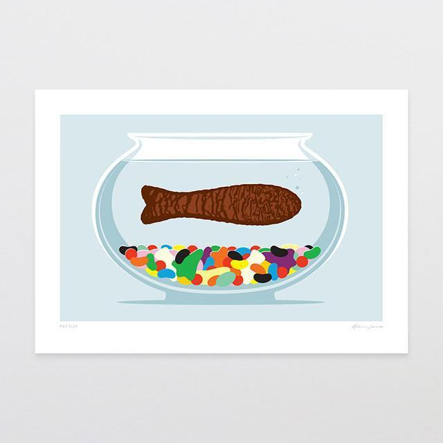 Pet Fish Art Print-Glenn Jones Art