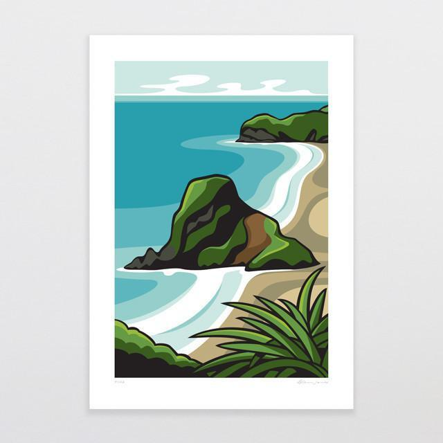 Piha Art Print-Glenn Jones Art