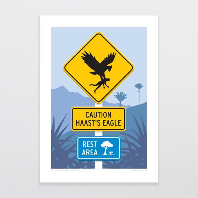 Please Don't Feed The Birds Art Print-Glenn Jones Art